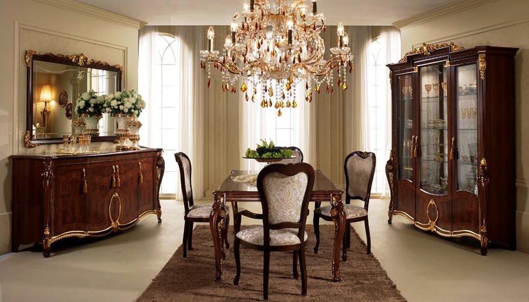 Темная мебель в классическом интерьере