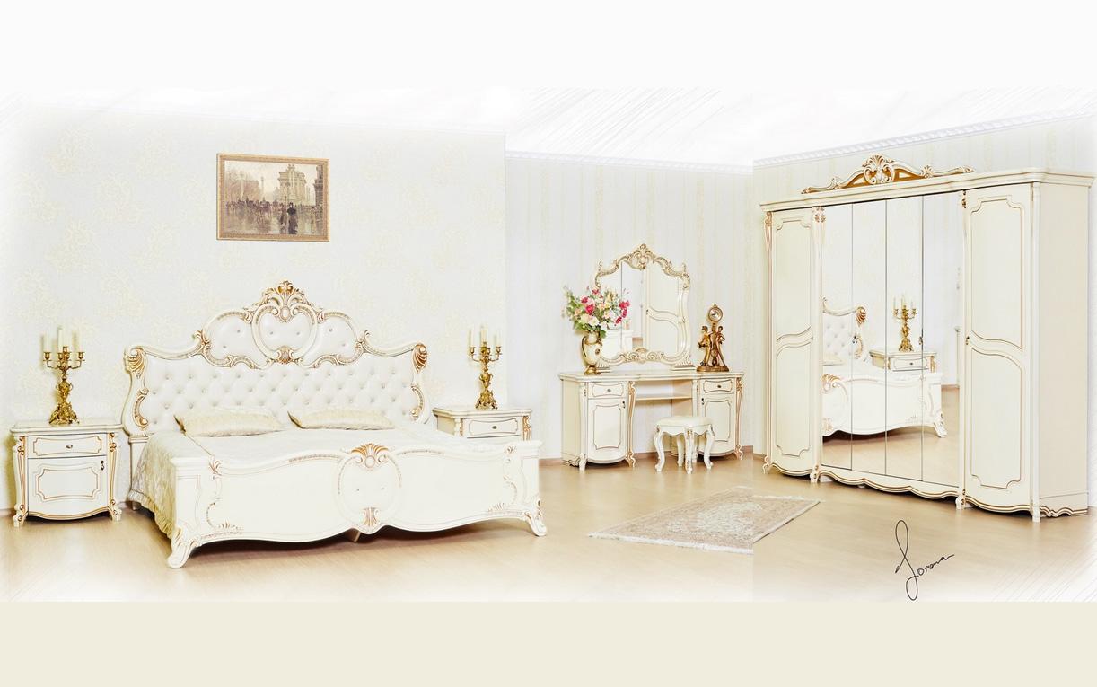 спальня лорена белая россия купить со склада в москве мебель размеры